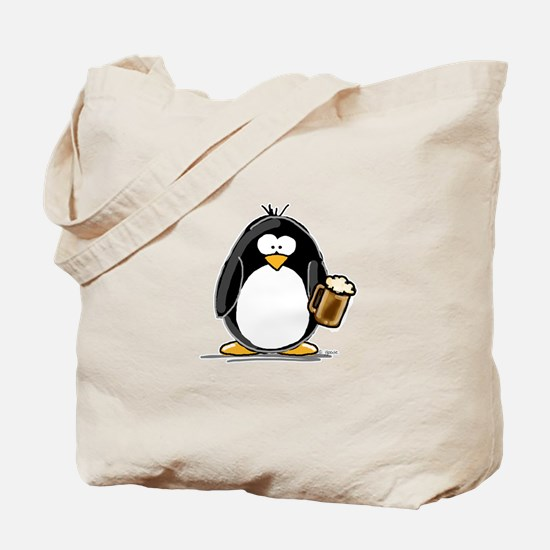 Beer Drinking Penguin Tote Bag