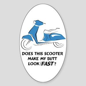Fast Butt Blue Sticker (Vert. Oval)