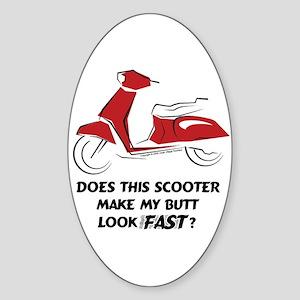 Fast Butt Red Sticker (Vert. Oval)