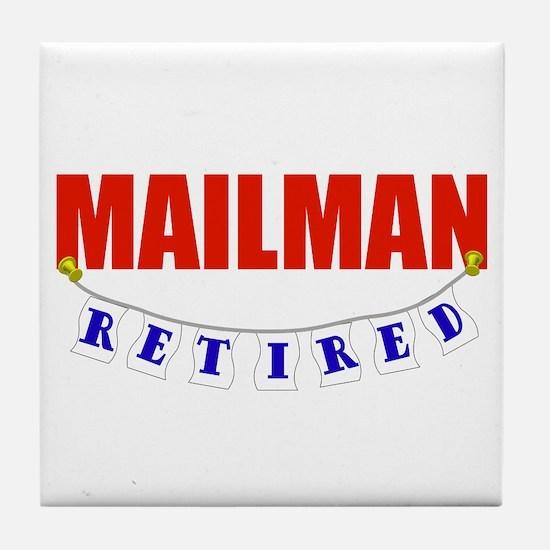 Retired Mailman Tile Coaster