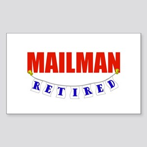 Retired Mailman Rectangle Sticker
