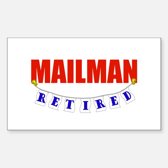 Retired Mailman Rectangle Decal