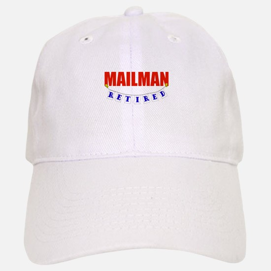 Retired Mailman Baseball Baseball Cap