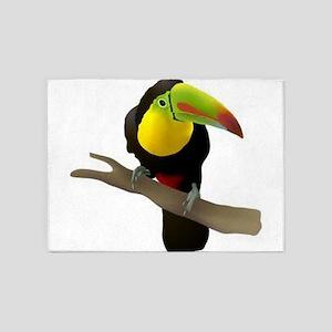 Toucan bird 5'x7'Area Rug