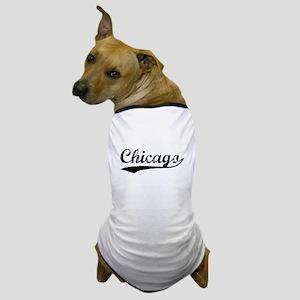 Vintage Chicago (Black) Dog T-Shirt