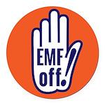 EMF off! Round Car Magnet