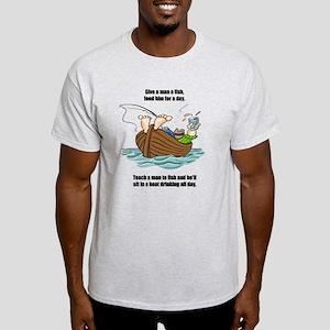 Give A Man A Fish Light T-Shirt