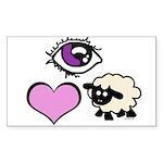 Eye Love Ewe Sticker (Rectangle)