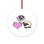 Eye Love Ewe Ornament (Round)