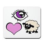Eye Love Ewe Mousepad
