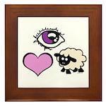 Eye Love Ewe Framed Tile