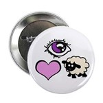 "Eye Love Ewe 2.25"" Button"