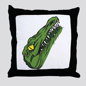 Crocodile Head Throw Pillow