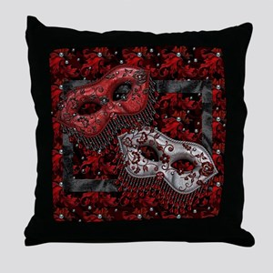 Harvest Moons Masquerade Masks Throw Pillow