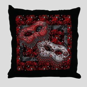 Harvest Moons Masquerade Masks Throw Pillow