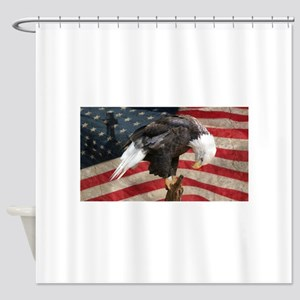 United States of America prayer Shower Curtain