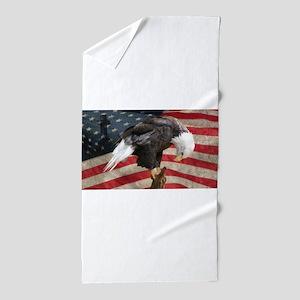United States of America prayer Beach Towel
