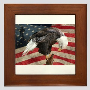United States of America prayer Framed Tile