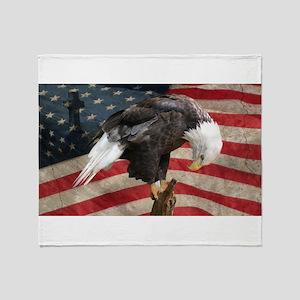 United States of America prayer Throw Blanket