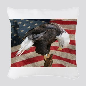 United States of America praye Woven Throw Pillow
