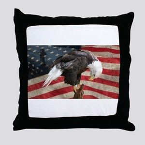 United States of America prayer Throw Pillow