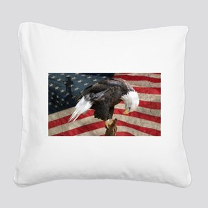 United States of America pray Square Canvas Pillow
