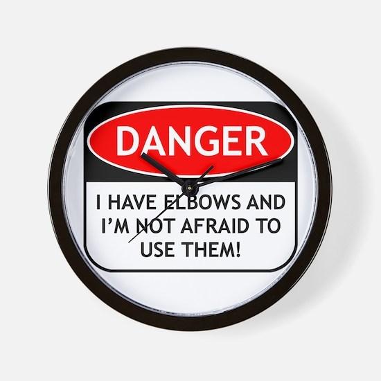 Use Elbows Wall Clock