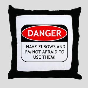 Use Elbows Throw Pillow