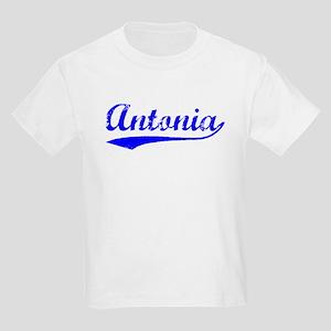 Vintage Antonia (Blue) Kids Light T-Shirt