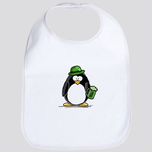 Green Beer Penguin Bib