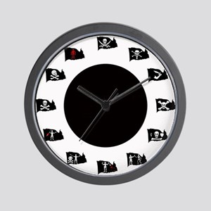 Pirate Flags-Black Spot Jolly Roger Wall Clock