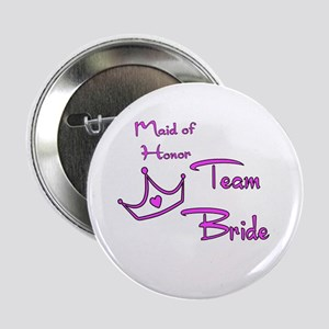 "Maid of Honor Buttons 2.25"" Button"