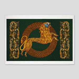 Harvest Moons Celtic Lion 5'x7'Area Rug