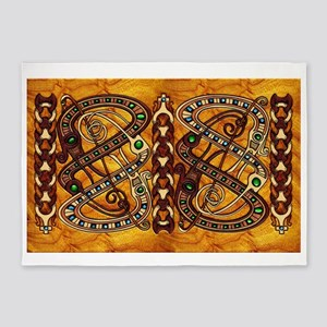 Harvest Moons Viking Dragons 5'x7'Area Rug
