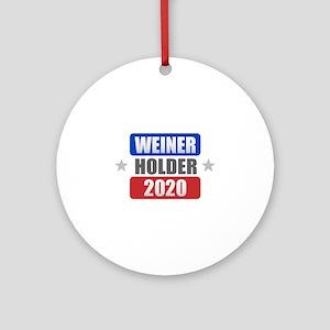 Weiner Holder 2020 Round Ornament