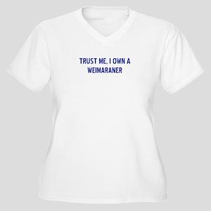 Weimaraner Women's Plus Size V-Neck T-Shirt
