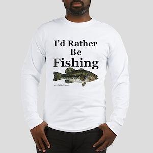 """Rather Be Fishing"" Bass Long Sleeve Tee"