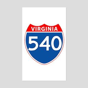 Area Code 540 Rectangle Sticker