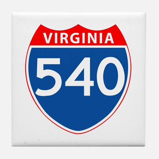 Area Code 540 Tile Coaster
