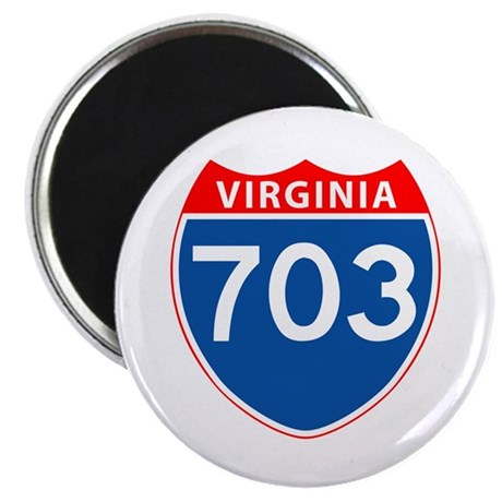 """Area Code 703 2.25"""" Magnet (100 pack)"""
