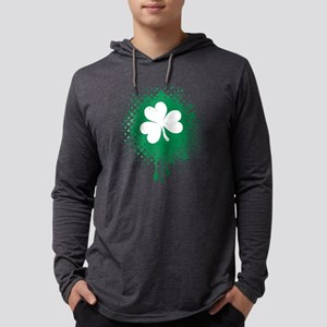 Irish Shamrock grunge Long Sleeve T-Shirt