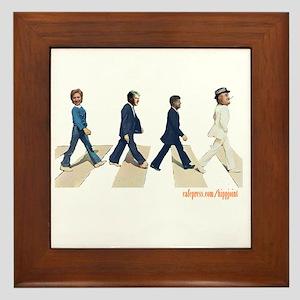 Hillary,Bill,JFK,FDR on Abbey Framed Tile
