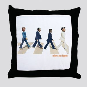Hillary,Bill,JFK,FDR on Abbey Throw Pillow