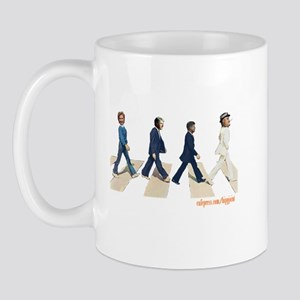 Hillary,Bill,JFK,FDR on Abbey Mug