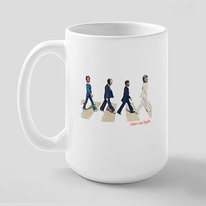 Hillary,Bill,JFK,FDR on Abbey Large Mug
