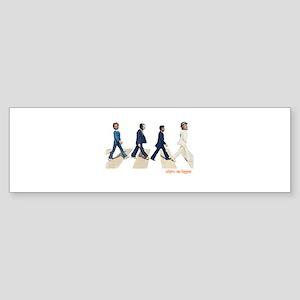 Hillary,Bill,JFK,FDR on Abbey Bumper Sticker