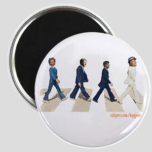 Hillary,Bill,JFK,FDR on Abbey Magnet