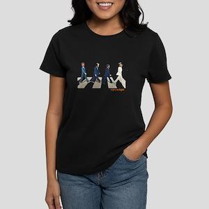 Hillary,Bill,JFK,FDR on Abbey Women's Dark T-Shirt