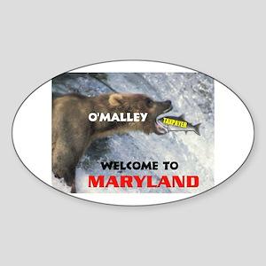 O'MALLEY'S TAXES Oval Sticker
