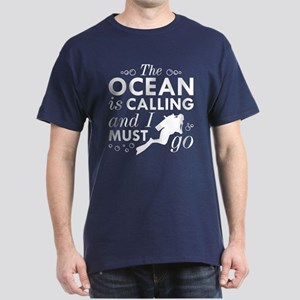 The Ocean Is Calling Dark T-Shirt